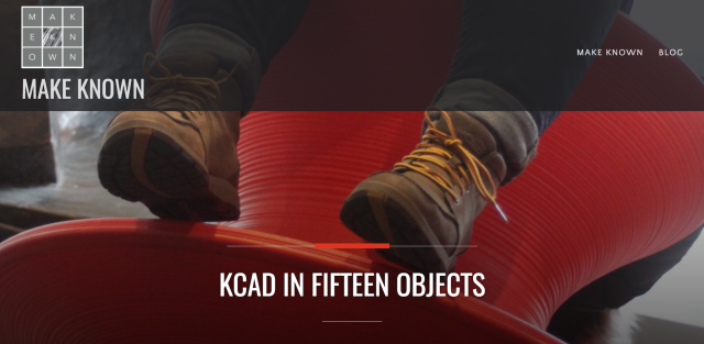 Make Known: KCAD in 15 Objects